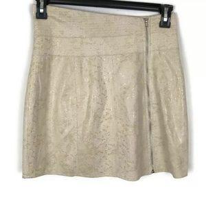 Ark & Co beige snake skin shiny skirt